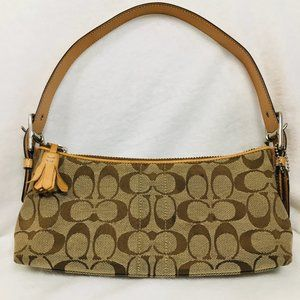 COACH BROWN LEATHER HAND SATCHEL
